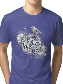 """Thoreau"" Your Life Away Tri-blend T-Shirt"