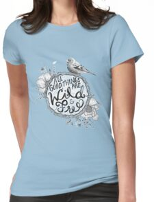 """""""Thoreau"""" Your Life Away Womens Fitted T-Shirt"""
