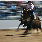 Steer Wrestler by Linda Gregory