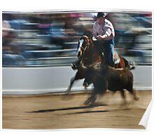 Steer Wrestler Poster