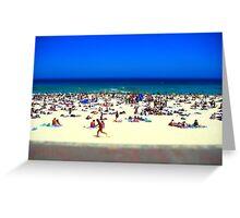Bondi beach tiltshift Greeting Card