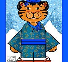 Winter Tiger by elledeegee