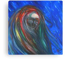 The Power of a Surrealistic Girl Canvas Print
