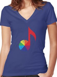 Music Theory Women's Fitted V-Neck T-Shirt