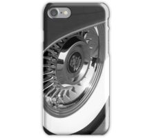 Black & White wall tyre iPhone Case/Skin