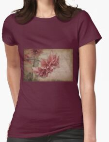 Red Dahlia #3 Womens Fitted T-Shirt