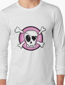 Girly Pirate Skull Long Sleeve T-Shirt