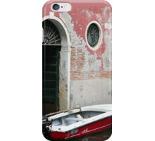 Pink Wall & Red Boat iPhone Case/Skin