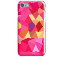Brink Pink Abstract Low Polygon Background iPhone Case/Skin