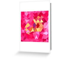 Brink Pink Abstract Low Polygon Background Greeting Card