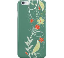 Flirty Flower Border iPhone Case/Skin