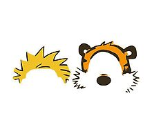 calvin and hobbes head by bagasbeside