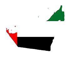 UAE Flag Map by Omar Dakhane