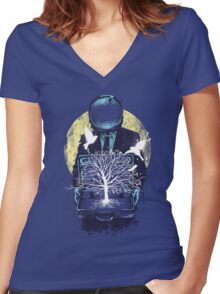 A new life Women's Fitted V-Neck T-Shirt