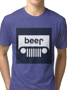 speed bump ahead,dont spill your beer! Tri-blend T-Shirt