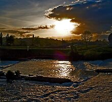 Raging River Exe by Michelle Lovegrove