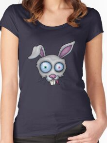 Crazy White Rabbit Women's Fitted Scoop T-Shirt