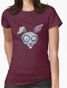 Crazy White Rabbit Womens Fitted T-Shirt