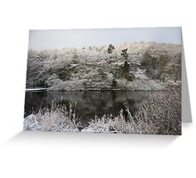 Snowy Lake Scene Greeting Card
