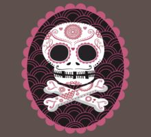 Pink Sugar Skull Vector Kids Clothes