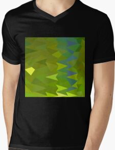 June Bud Green Abstract Low Polygon Background Mens V-Neck T-Shirt