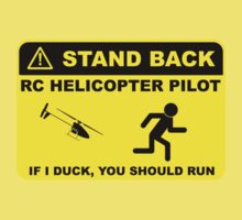 RC Helicopter Pilot - Stand Back Kids Tee