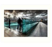 Millenium Bridge re-visited Art Print