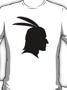 Native American Indian Man, Silhouette T-Shirt
