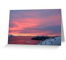 Antarctic Sunset Greeting Card