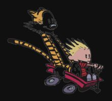 calvin and hobbes speed Kids Clothes
