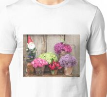 Still Life with Flowers & a Gnome T-Shirt