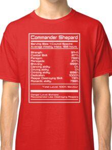 Mass Effect - Shepard Stats Classic T-Shirt