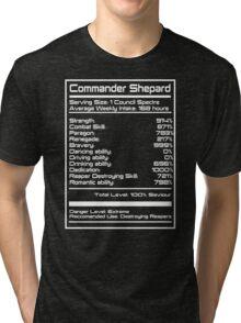 Mass Effect - Shepard Stats Tri-blend T-Shirt
