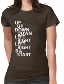 Konami Code Womens Fitted T-Shirt