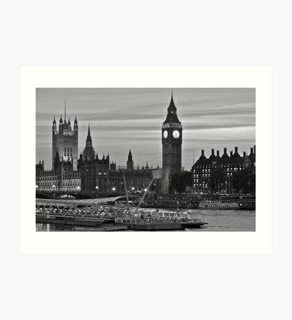 An evening on the Thames.  Art Print