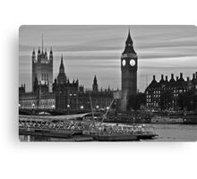 An evening on the Thames.  Canvas Print