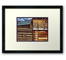 """Barn Materials-Keeping It Simple"" Framed Print"