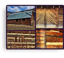"""Barn Materials-Keeping It Simple"" Canvas Print"