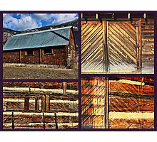 """""""Barn Materials-Keeping It Simple"""" Photographic Print"""