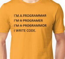 I write code (Black Version) Unisex T-Shirt