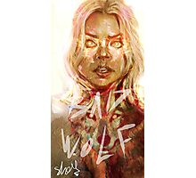 the bad wolf  Photographic Print