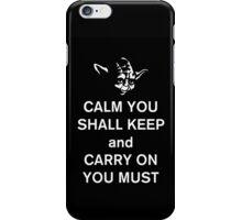 yoda keep calm iPhone Case/Skin