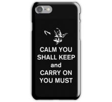 yoda keep calm iPhone Case/Skin