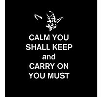yoda keep calm Photographic Print
