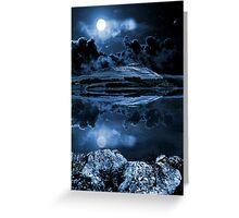 Night sky over dovestones Greeting Card