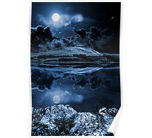Night sky over dovestones Poster