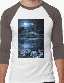 Night sky over dovestones Men's Baseball ¾ T-Shirt
