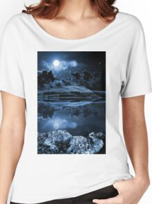 Night sky over dovestones Women's Relaxed Fit T-Shirt