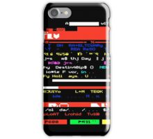 Glitched Teletext Page iPhone Case/Skin