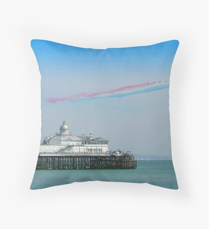 Red Arrows Eastbourne Throw Pillow